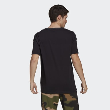Men Originals Black SPRT 3-Stripes Tee