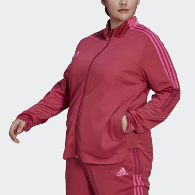 Women Football Pink Tiro Track Jacket (Plus Size)
