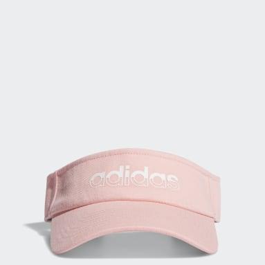 Women's Essentials Pink Linear Visor