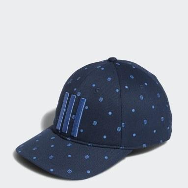 Men's Golf Blue Allover Print Shield Cap