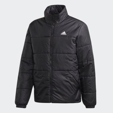 Men Outdoor Black BSC 3-Stripes Insulated Winter Jacket