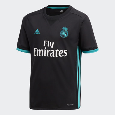Jersey Real Madrid Away Replica Negro Niño Fútbol