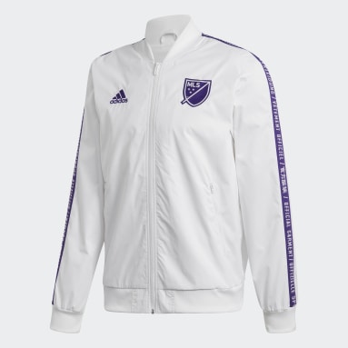 Men Football White MLS All-Star Anthem Jacket