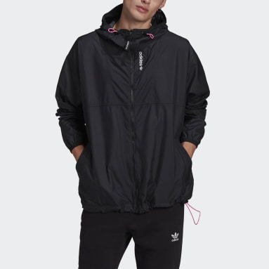 Men Originals Black adidas Adventure Cargo Woven Windbreaker
