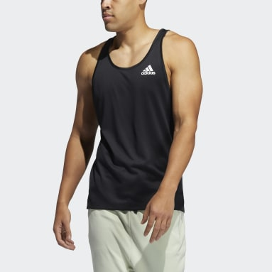 Men's Yoga Black AEROREADY 3-Stripes Flow Primeblue Tank Top