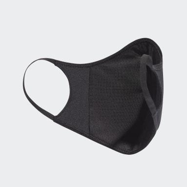 Máscara facial adidas em tecido TAMANHO PP/P (PACK DE 3) (UNISEX) Preto Kids Training