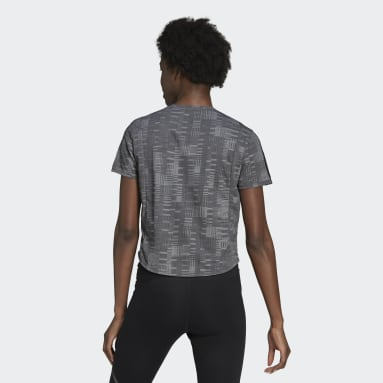 Women Running Black Own The Run Primeblue Tee