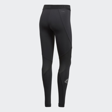 Mallas Alphaskin Sport - Corte Medio Negro Mujer Training