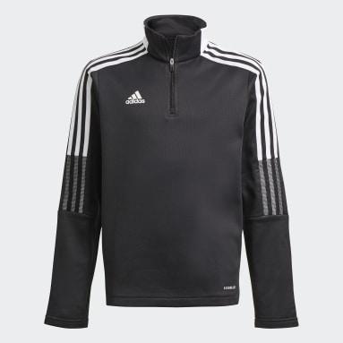 Kinderen Voetbal Zwart Tiro 21 Warm Sweatshirt