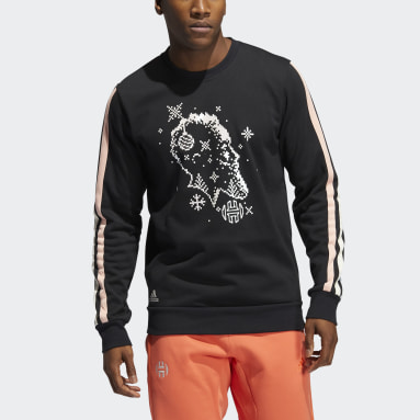 Sweat-shirt Harden Decorate the Game Crew Noir Hommes Basketball