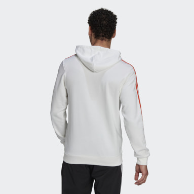 Men's Essentials White Essentials 3-Stripes Hoodie