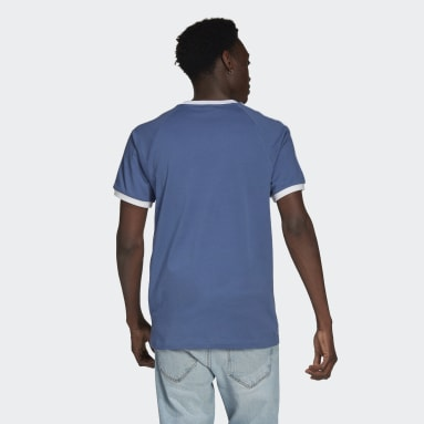 Men Originals Blue Adicolor Classics 3-Stripes Tee