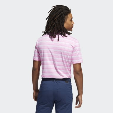 Herr Golf Rosa Heather Snap Polo Shirt