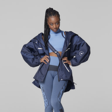 Women adidas by Stella McCartney Blue adidas by Stella McCartney True Pace Run Jacket WIND.RDY