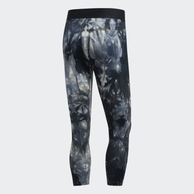 Men's Yoga Black Alphaskin Parley 3/4 Tights