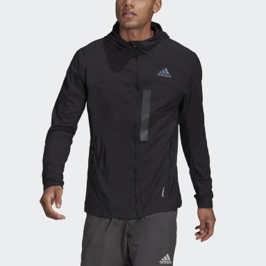 Men Running Black Marathon Translucent Jacket