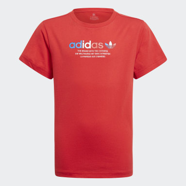 Kinder Originals Adicolor Graphic T-Shirt Rot