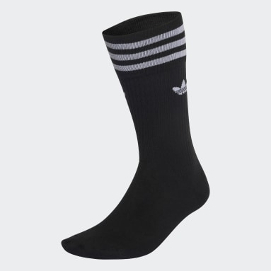 Originals Black Solid Crew Sock 3 Pairs