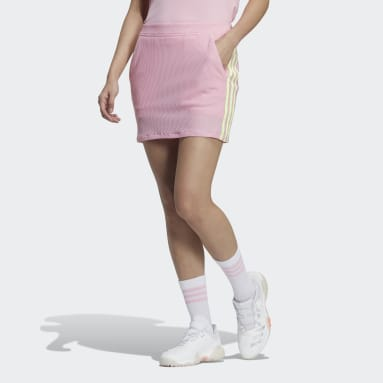 Women Golf Pink 3-Stripes Skort