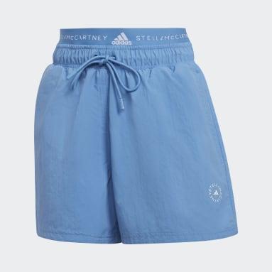 Short adidas by Stella McCartney Sportswear Woven Bleu Femmes adidas by Stella McCartney