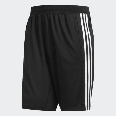 Männer Yoga 4KRFT Sport 3-Streifen Shorts Schwarz