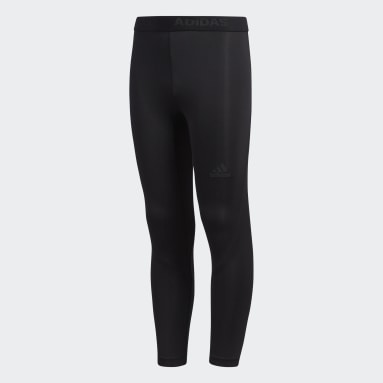 Youth Yoga Black Alphaskin Baselayer Long Tights