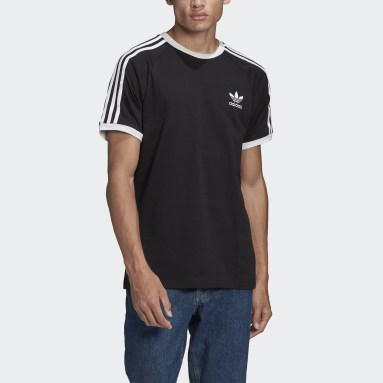 Originals zwart Adicolor Classics 3-Stripes T-shirt