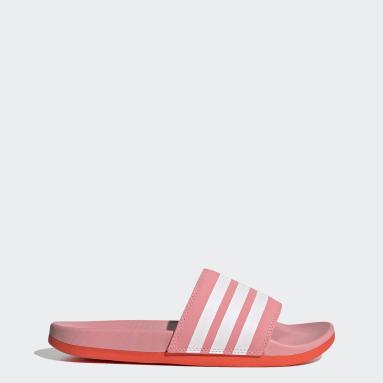 Women Swimming Pink Adilette Comfort Slides