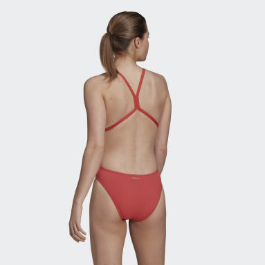 Women Swimming Red Logo Swimsuit