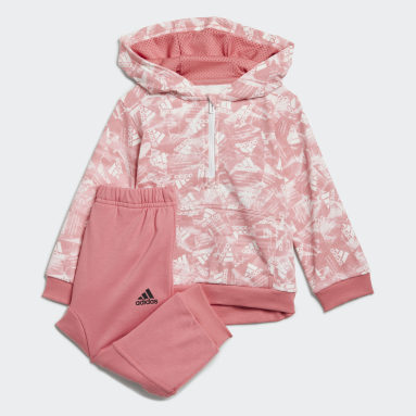 Kids Gym & Training Pink Badge of Sport Allover Print Jogger Set