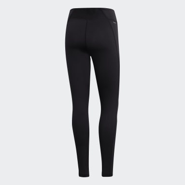 Mallas Brilliant Basic - Corte Medio Negro Mujer Training