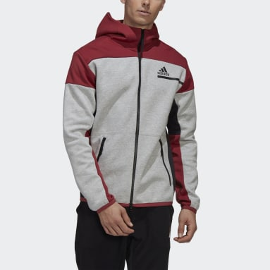 Men Sportswear Grey adidas Z.N.E. Full-Zip Hoodie