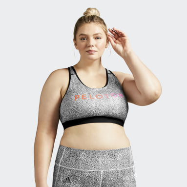 Women's Yoga Black adidas x Peloton Believe This Bra (Plus Size)
