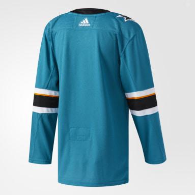 синий Оригинальная домашняя джерси San Jose Sharks