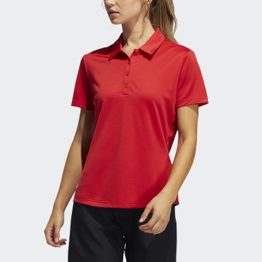 Women Golf Red Performance Primegreen Polo Shirt