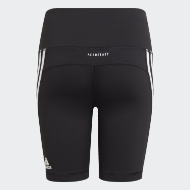 Girls Training Black Believe This 3-Stripes Short Tights