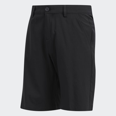 Boys Golf Black Solid Golf Shorts