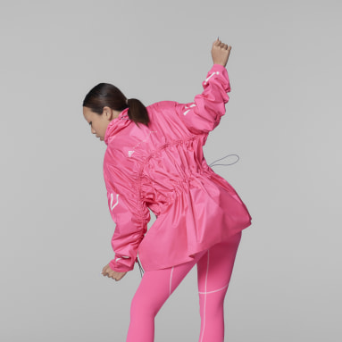 Women adidas by Stella McCartney Pink adidas by Stella McCartney Half-Zip Mid-Length Jacket