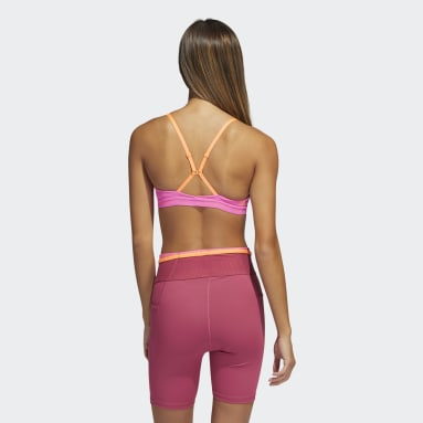 Women Yoga Pink All Me Branded Bra