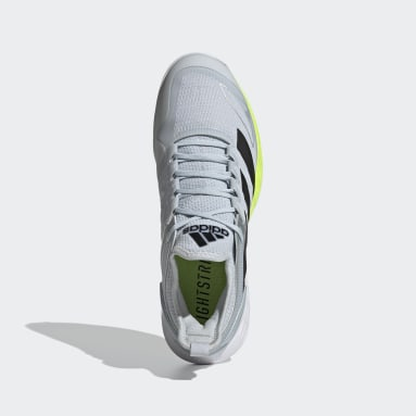 Men Tennis White Adizero Ubersonic 4 Clay Shoes