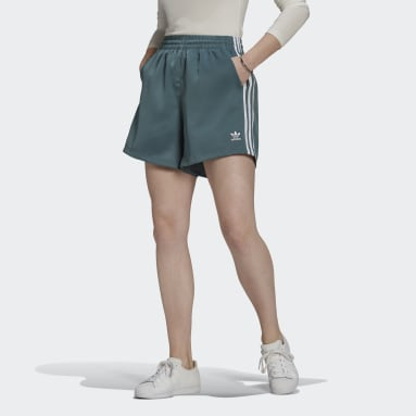 Women Originals Green Adicolor Classics Satin Shorts
