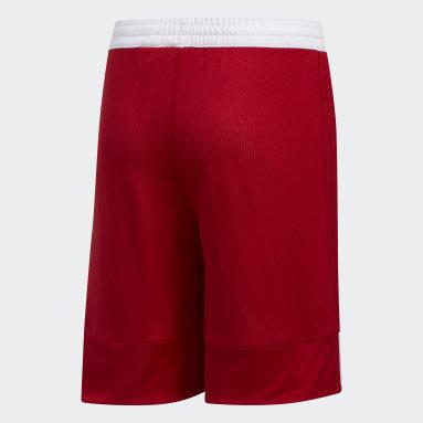 Deti Basketbal červená Šortky 3G Speed Reversible