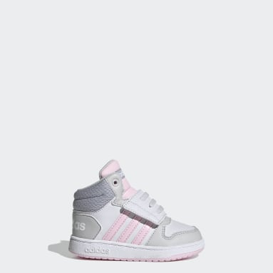 Kids Basketball Grey Hoops 2.0 Mid Shoes