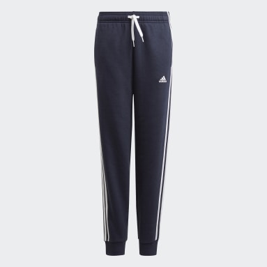 Boys Sport Inspired Blue adidas Essentials 3-Stripes Pants