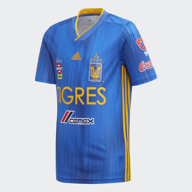 Jersey Visitante Tigres UANL Azul Niño Fútbol