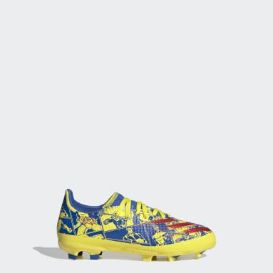 เด็กผู้ชาย ฟุตบอล สีน้ำเงิน รองเท้าฟุตบอล Marvel X Ghosted.3 Firm Ground