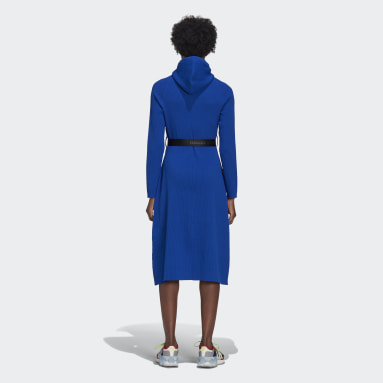 Women Originals Blue AC Hoodie Dress