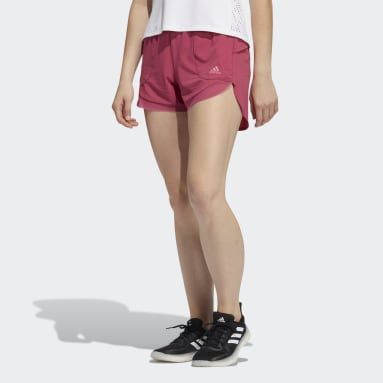 Women's Yoga Pink Elevated Training Woven Shorts