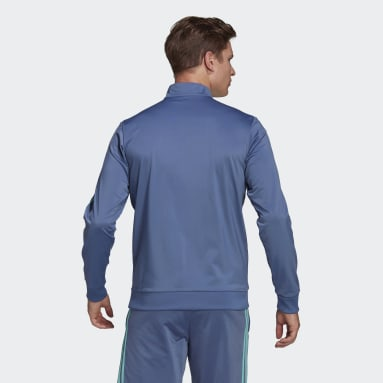 Men's Essentials Blue Essentials 3-Stripes Tricot Track Top