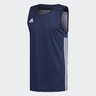 Heren Basketbal Blauw 3G Speed Reversible Shirt
